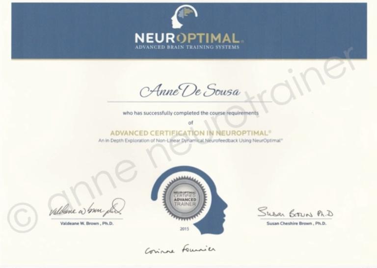 anne neurotrainer ∣ Advanced Certification in NeurOptimal®